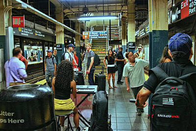 Photograph - N Y C Subway Scene # 16 by Allen Beatty