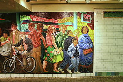 Photograph - N Y C Subway Scene # 19 by Allen Beatty