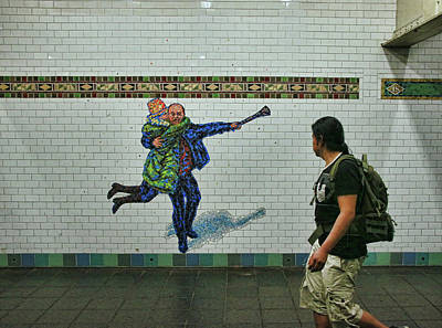 Photograph - N Y C Subway Scene # 20 by Allen Beatty
