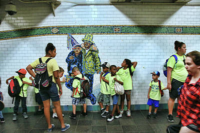 Photograph - N Y C Subway Scene # 21 by Allen Beatty
