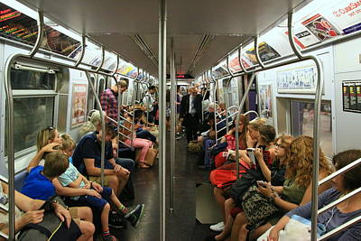 Photograph - N Y C Subway Scene # 24 by Allen Beatty