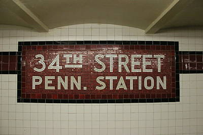 Photograph - N Y C Subway Scene # 25 by Allen Beatty