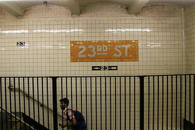 Photograph - N Y C Subway Scene # 26 by Allen Beatty