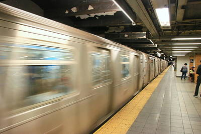 Photograph - N Y C Subway Scene # 28 by Allen Beatty