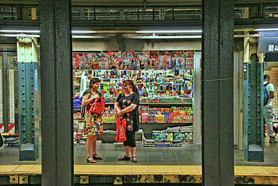 Photograph - N Y C Subway Scene # 3 by Allen Beatty