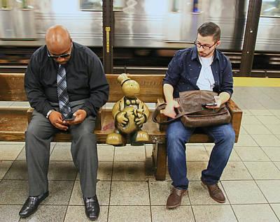 Photograph - N Y C Subway Scene # 30 by Allen Beatty