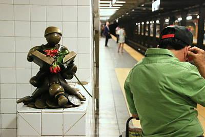 Photograph - N Y C Subway Scene # 33 by Allen Beatty