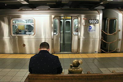 Photograph - N Y C Subway Scene # 34 by Allen Beatty
