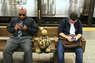 Photograph - N Y C Subway Scene # 37 by Allen Beatty