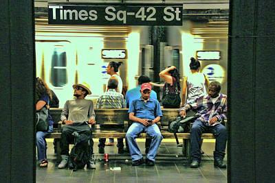 Photograph - N Y C Subway Scene # 4 by Allen Beatty