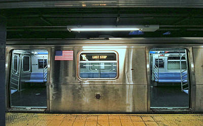 Photograph - N Y C Subway Scene # 6 by Allen Beatty