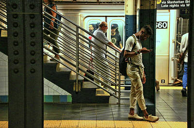 Photograph - N Y C Subway Scene # 9 by Allen Beatty