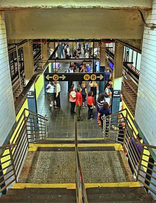 Photograph - N Y C Subway Scene # 7 by Allen Beatty