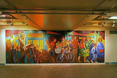 Photograph - N Y C Subway Scenes # 42 by Allen Beatty