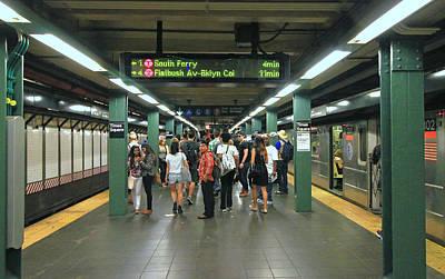 Photograph - N Y C Subway Scenes # 43 by Allen Beatty