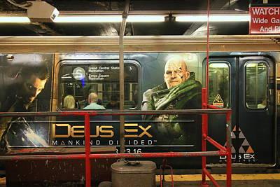 Photograph - N Y C Subway Scenes # 44 by Allen Beatty