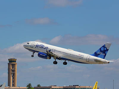N625jb Jetblue At Fll Art Print