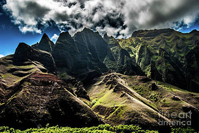 Photograph - Na Pali Coast Cathedral Peaks #11 by Blake Webster