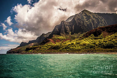 Photograph - Na Pali Coast Cathedral Peaks #12 by Blake Webster