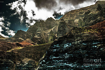 Photograph - Na Pali Coast Cathedral Peaks by Blake Webster