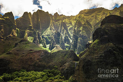 Photograph - Na Pali Coast Cathedrals by Blake Webster