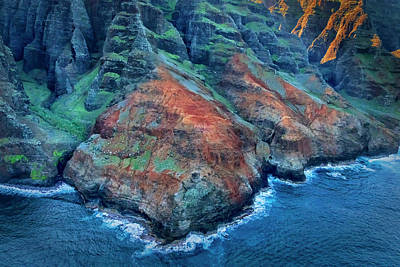 Photograph - Na Pali Coast From Helicopter 7r2_dsc4156_01092018 by Greg Kluempers