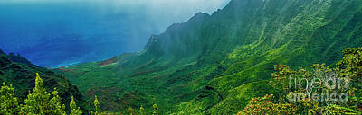 Photograph - na Pali coast Kailua lookout kauai Hawaii by Tom Jelen