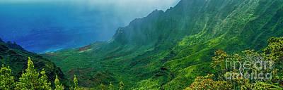 Photograph - na Pali coast Kailua lookout kauai Hawaii by Tom Jelen