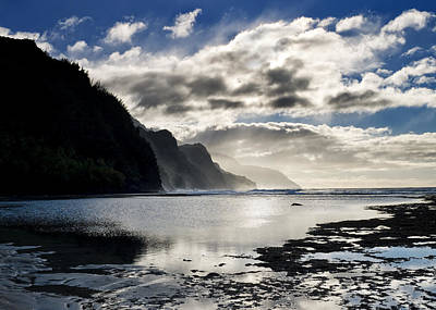 Beach Landscape Photograph - Na Pali Coast Kauai Hawaii by Brendan Reals