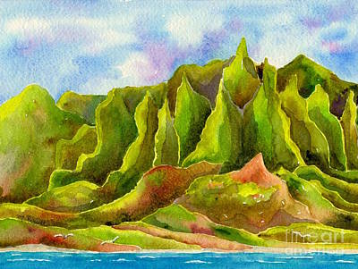 Painting - Na Pali Coast by Melanie Pruitt
