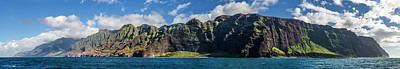 Na Pali Coast Panoramic Art Print