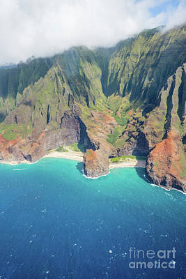 Photograph - Na Pali Coast State Park Aerial View Kauai Hawaii by Christy Woodrow