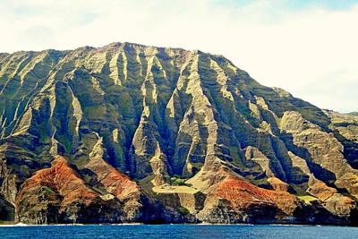 Photograph - Na Pali Coastal Study 5 by Robert Meyers-Lussier