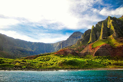 Photograph - Na Pali Coastal Study 6 by Robert Meyers-Lussier