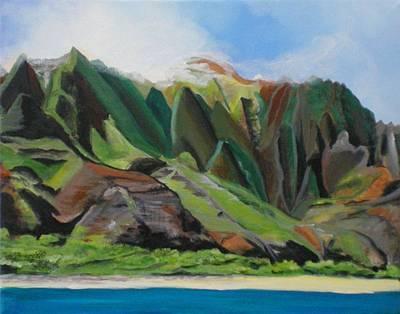Kauai Artist Painting - Na Pali Cruise by Marionette Taboniar