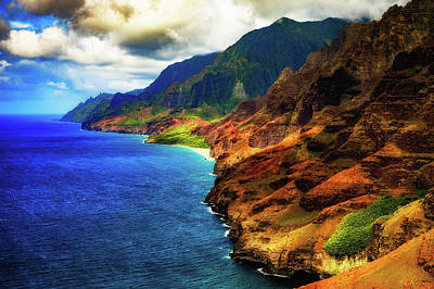 Photograph - Na Pali Coast by M G Whittingham