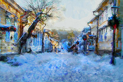 Digital Art - Naantali Old Town In Winter by Kai Saarto