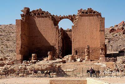 Photograph - Nabatean's Ruins by Mae Wertz