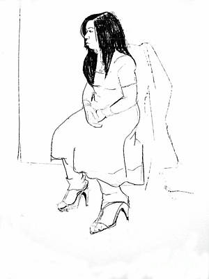 Pensive Drawing - Nadia by Joanne Claxton