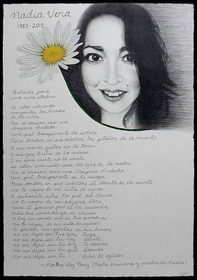 Drawing - Nadia Vera - Guerreras Series by Lynet McDonald