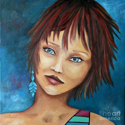 Nadine Art Print by Jutta Maria Pusl