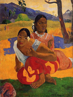 Lady Painting - Nafae Faa Ipopo, When Will You Marry by Paul Gauguin
