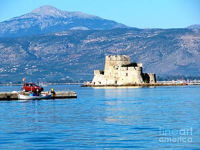 Beastie Boys - Naflion Greece Harbor Fortress by Phyllis Kaltenbach