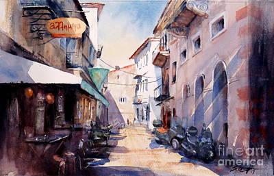 Painting - Nafplio Old Town 2 by Sof Georgiou
