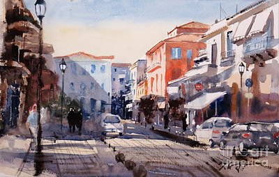 Painting - Nafplio Old Town by Sof Georgiou