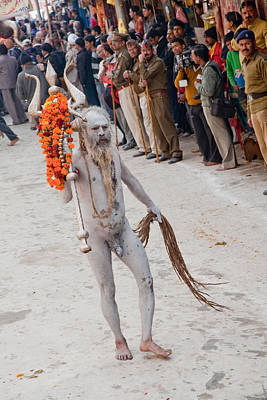 India Babas Photograph - Naga - Kumbh Mela by John Battaglino