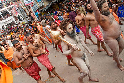 India Babas Photograph - Naga Baba March 13 by John Battaglino