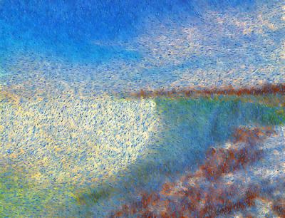Digital Manipulation Painting - Nagara Falls Point Of View by Mario Carini