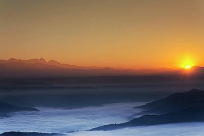 Photograph - Nagarkot Sunrise by Stefan Nielsen