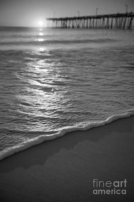 Firefighter Patents - Nags Head First Light BW by Michael Ver Sprill